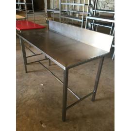 TABLE INOX AVEC DOSSERET 150 x 70 CM