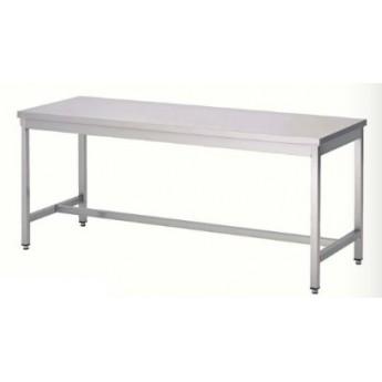 TABLE INOX 150 x 80 cm