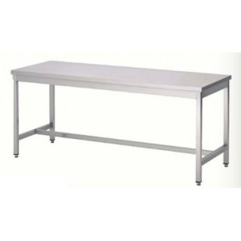TABLE INOX 180 x 60 cm
