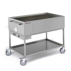 Bain-marie sur chariot BMC-111 235/50-60/1 pour cuisine professionnelle