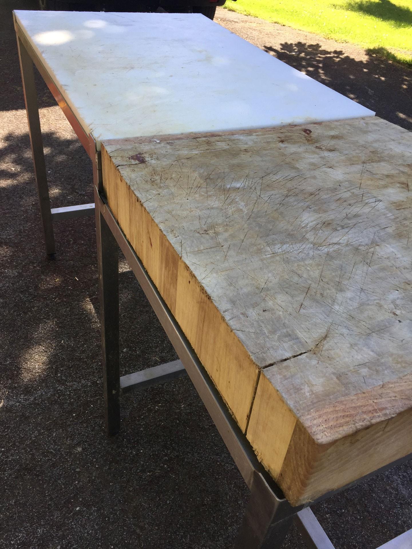 Table Decoupe Bois Inox Distriworks