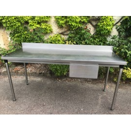 Table Inox 190 x 70 cm