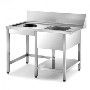 Table de pré-lavage droite lave-vaisselle