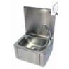 Lave-mains inox à commande fémorale