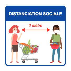 Panneau d'informations - Visuel magasin Panneau Perforé (grand format format)