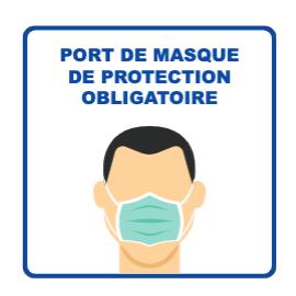 Panneau d'informations - Visuel masque Panneau Simple (Grand format)