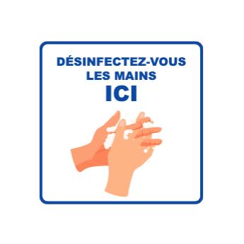 Panneau d'informations - Visuel Désinfection des mains - Panneau Perforé (petit format)