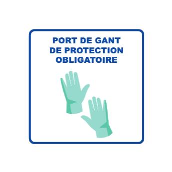 Panneau d'informations - Visuel Gants Panneau Simple (Petit format)
