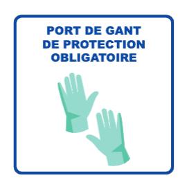 Panneau d'informations - Visuel Gants Panneau Perforé (grand format)